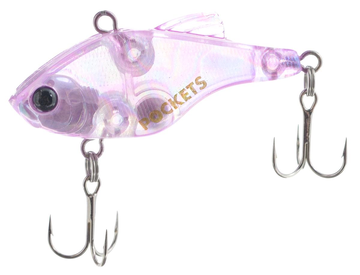 Воблер Maria Pockets Vib, тонущий, цвет: розовый, 4 см, 4,4 г43542Воблер типа раттлин Maria Pockets Vib с высоким телом применятся летом и зимой для ловли щуки, окуня, судака. Достаточно тяжелая и компактная приманка, которую можно на тонкой снасти забросить на большое расстояние. Работает при равномерной и ступенчатой проводке, позволяет обловить большой горизонт воды. Воблер оснащен тройниками Owner.