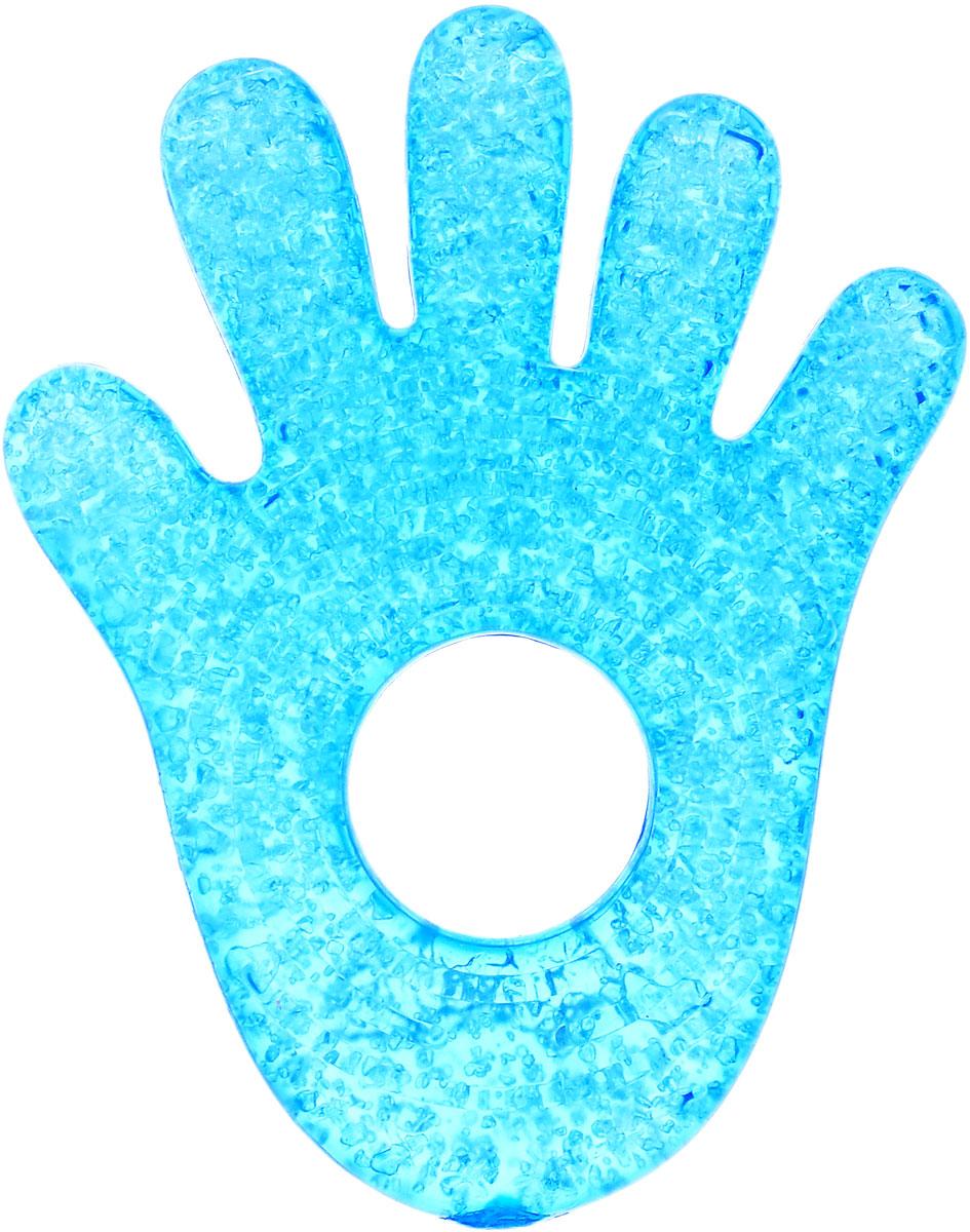 Munchkin Прорезыватель охлаждающий Ладошка цвет голубой