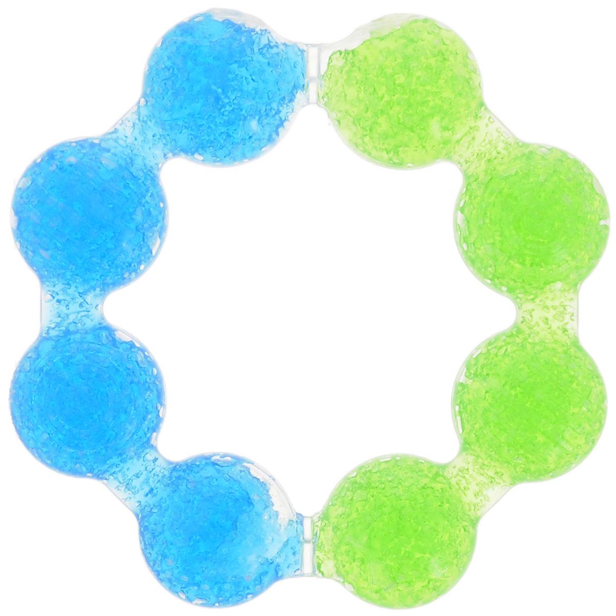Munchkin Прорезыватель охлаждающий Цветок цвет голубой салатовый11322_голубой, салатовыйПрорезыватель охлаждающий Munchkin Цветок, изготовленный из прочного безопасного материала (не содержит бисфенол А), несомненно, понравится малышу. Благодаря тому, что прорезыватель наполнен гелем, в охлажденном состоянии он оказывает легкое анестезирующее действие, а поверхность прорезывателя мягко массирует десны малыша и уменьшает дискомфорт при появлении зубов. Форма прорезывателя в виде кольца удобна для маленьких детских ручек. Прорезыватель Munchkin Цветок развивает мелкую моторику, воображение, концентрацию внимания и цветовое восприятие ребенка.