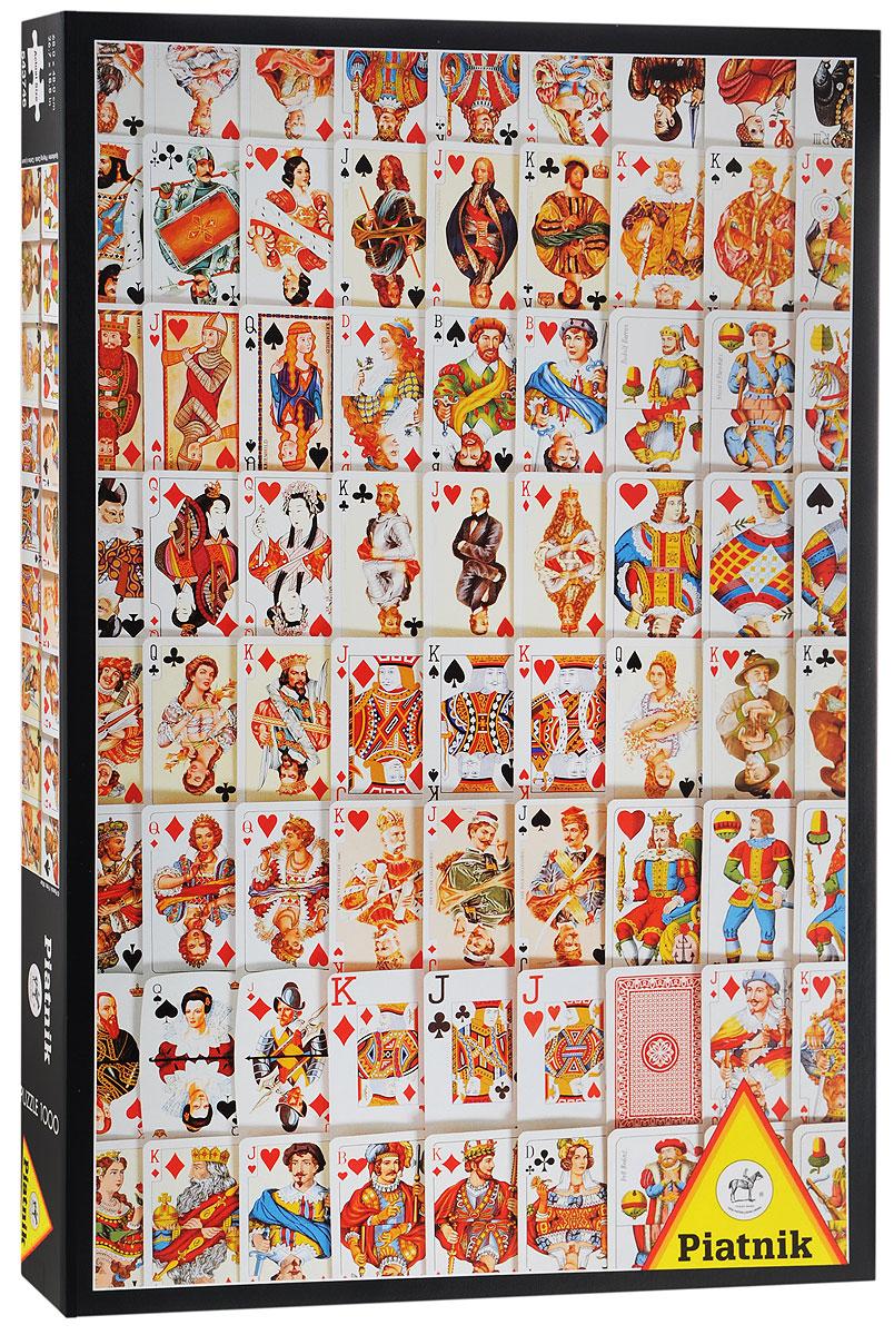 Piatnik Пазл Игральные карты543746Если вы любите ощущение адреналина и азарт, то тогда пазл Piatnik Игральные карты - это то, что вам подходит! Вы сможете очень увлеченно и с пользой провести свободное время, занимаясь любимым делом. Пазл включает в себя 1000 элементов, которые выполнены из высококачественного картона. В настоящее время пазлы пользуются огромным спросом, ведь для детей это прекрасный способ выработать усидчивость, а для многих взрослых собирание пазлов превратилось в настоящее хобби и искусство. Собирание пазла очень хорошо развивает память, логическое мышление, произвольное внимание. Способствует развитию мелкой моторики и наблюдательности.