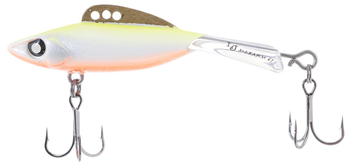 Балансир Lucky John Mebaru, цвет: желтый, белый, оранжевый, 6,7 см, 18 гLJME67-213Lucky John Mebaru - балансир, разработанный в Японии, для ловли хищной рыбы со льда и в отвес с дрейфующей лодки. Приманка изготовлена из свинцового сплава с корпусом и хвостом, сформированными из цельного морозостойкого и ударопрочного пластика ABS. Длинный хвост обеспечивает четкие развороты приманки в крайних точках траектории движения. В спинном плавнике, изготовленном из латуни, имеется три отверстия. В зависимости от точки крепления, игра приманки изменяется. На приманке установлены крючки Owner. Рекомендуется для ловли судака, щуки, форели и окуня.