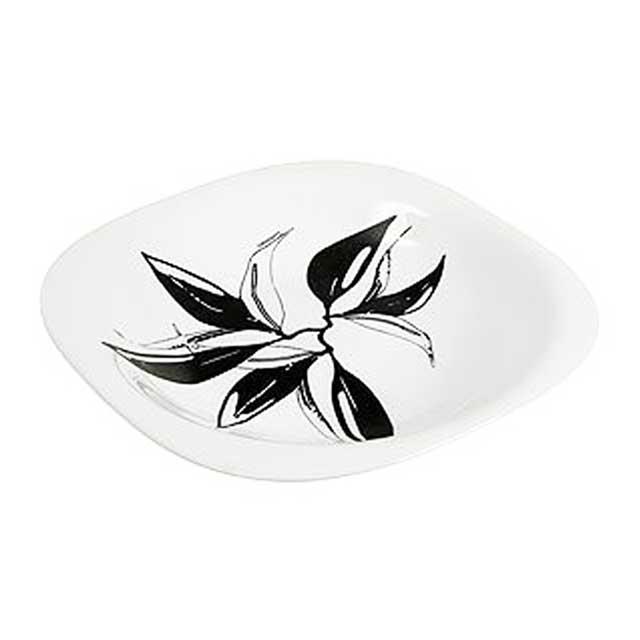 Тарелка глубокая Luminarc Carine Onyx, 21 х 21 смD3710Глубокая тарелка Luminarc Carine Onyx выполнена из ударопрочного стекла и украшена изображением листьев. Изделие сочетает в себе изысканный дизайн с максимальной функциональностью. Она прекрасно впишется в интерьер вашей кухни и станет достойным дополнением к кухонному инвентарю. Тарелка Luminarc Carine Onyx подчеркнет прекрасный вкус хозяйки и станет отличным подарком. Размер тарелки (по верхнему краю): 21 см х 21 см.