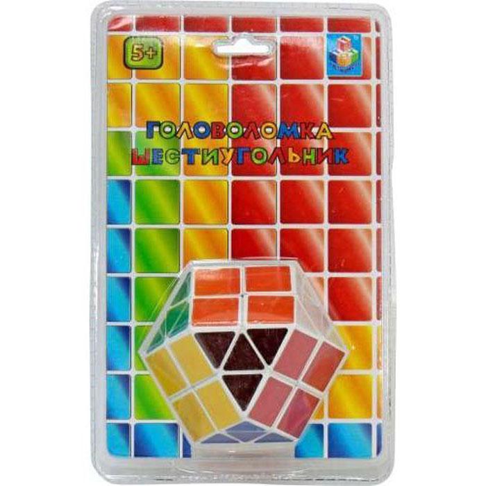 1TOY Головоломка Шестиугольник 3DТ57368Головоломка Шестиугольник по форме напоминает Кубик Рубика шестигранной формы с треугольными и квадратными разноцветными гранями. Игрушка проста в использовании и очень лаконична. Шестиугольник - это увлекательная головоломка, которая понравится любому ребенку. Данная модель позволит развить логическое мышление, восприятие цвета, а также моторику рук. Головоломка подойдет как для игры дома, так и в дороге. С такой головоломкой у вас не будет времени скучать!