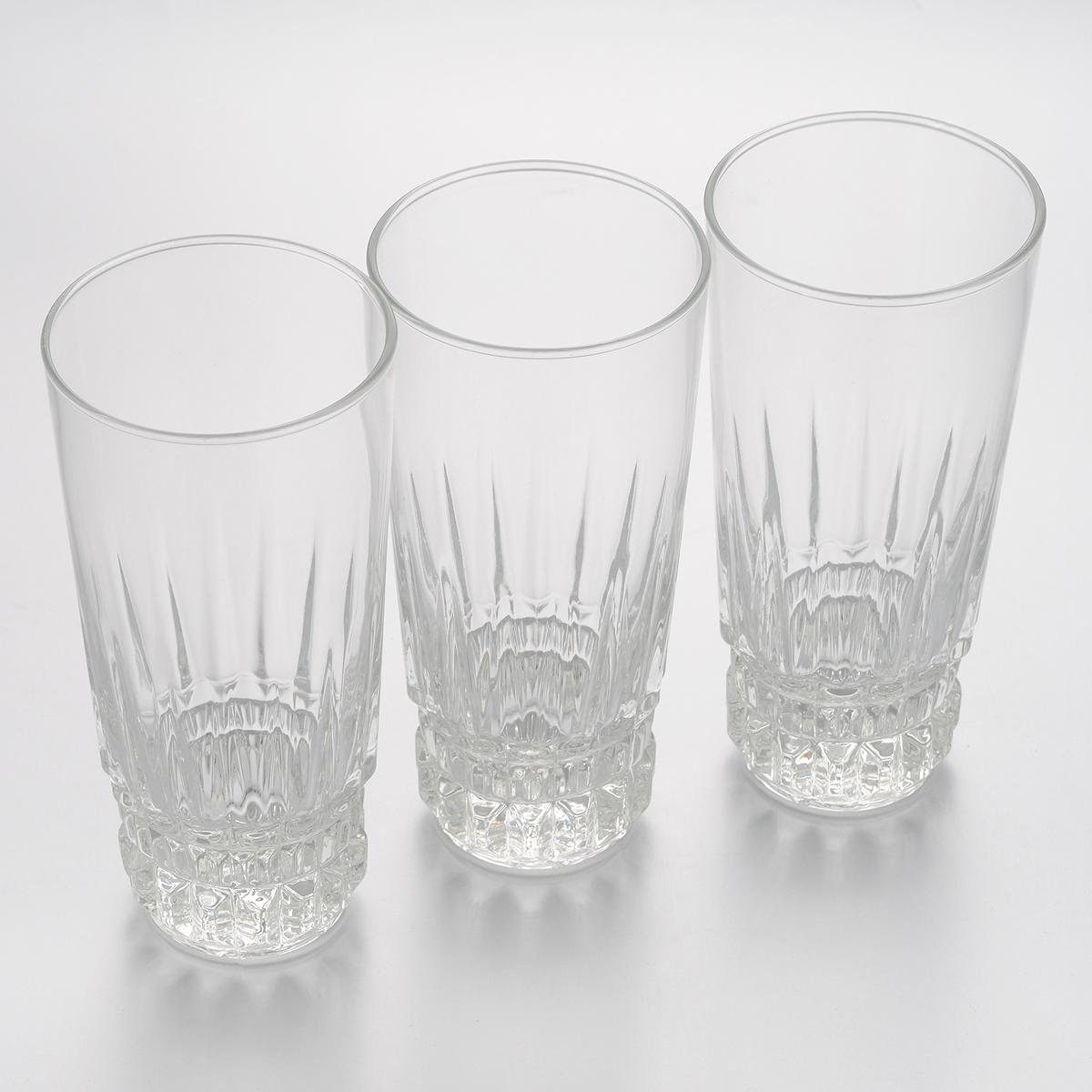 Набор стаканов Luminarc Imperator, 310 мл, 3 штE5182Набор Luminarc Imperator состоит из трех стаканов, выполненных из высококачественного стекла. Изделия предназначены для подачи воды и других безалкогольных напитков. Они отличаются особой легкостью и прочностью, излучают приятный блеск и издают мелодичный хрустальный звон. Стаканы станут идеальным украшением праздничного стола и отличным подарком к любому празднику. Диаметр стакана (по верхнему краю): 7 см. Высота: 15 см.