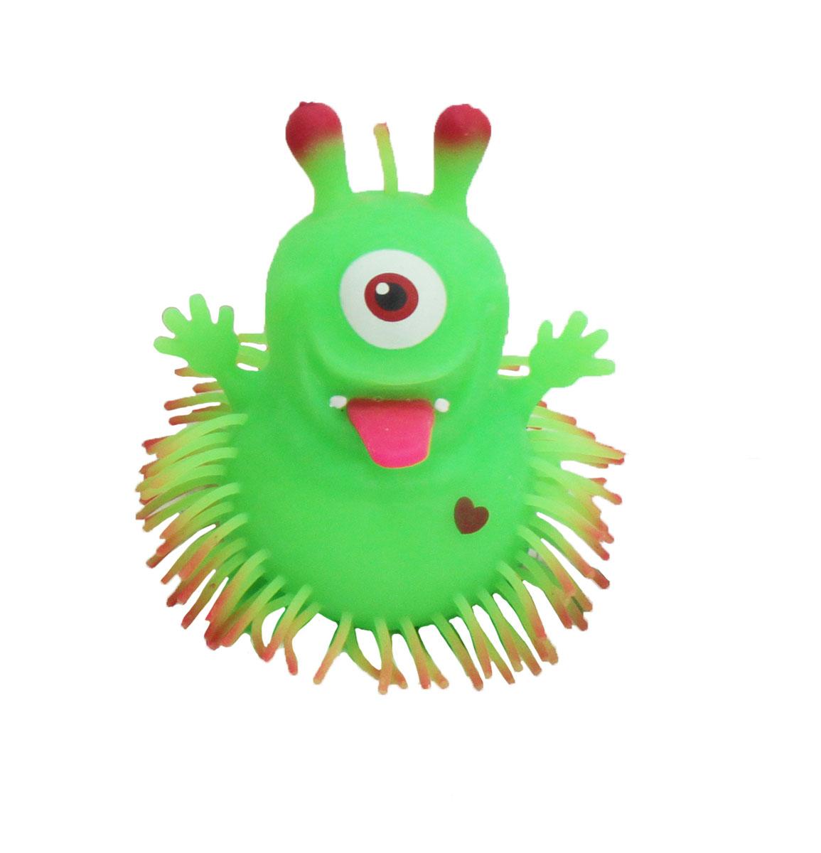 1TOY Игрушка-антистресс Ё-Ёжик Инопланетянин одноглазый цвет зеленыйТ56239_зелёный с рожкамиЁ-Ёжик - это яркая игрушка-антистресс - мягкая, приятная на ощупь и напоминающая свернувшегося ёжика. Взяв игрушку в руки, расстаться с ней просто невозможно! Её не только приятно держать в руках, если перекинуть игрушку из руки в руку, она начнёт мигать цветными огоньками. Игрушка зеленого цвета в виде инопланетянина с длинными мягкими колючками. Данная игрушка рассчитана на широкую целевую аудиторию, как детей от трёх лет, так и взрослых. Ё-Ёжик обязательно станет самым любимым забавным сувениром.