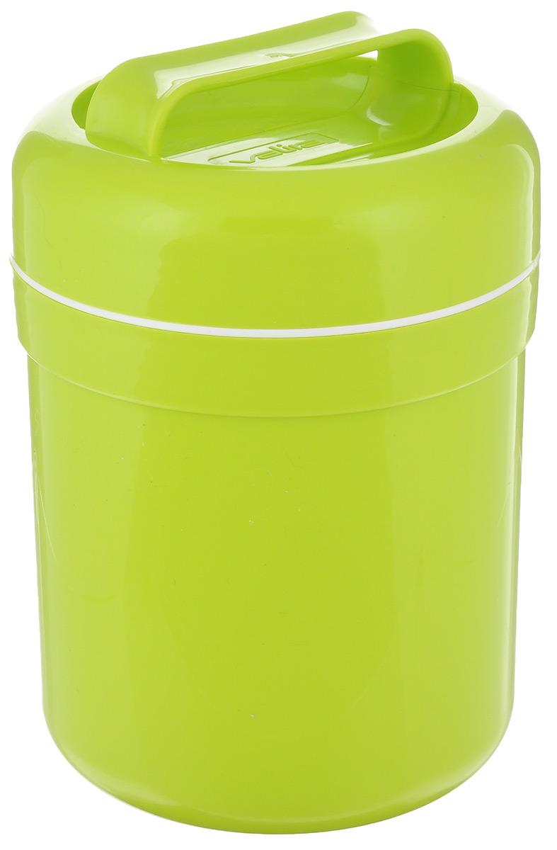 Термоконтейнер для еды Valira, цвет: зеленый, 500 мл6207/134_зеленыйТермоконтейнер Valira - это удобный и легкий термический контейнер для еды, который сохраняет температуру пищи горячей до 6 часов, а холодной - до 8 часов. Контейнер выполнен из цветного пищевого пластика, внутри расположена стеклянная колба, а, как известно, стекло позволяет хранить тепло и холод лучше всех других материалов. Если нет возможности разогреть или сохранить в холоде пищу, этот контейнер будет вашим незаменимым помощником. Герметично закрывается крышкой с удобной ручкой для переноски. Подходит для ежедневного использования на работе или учебе, а также для отдыха на природе.