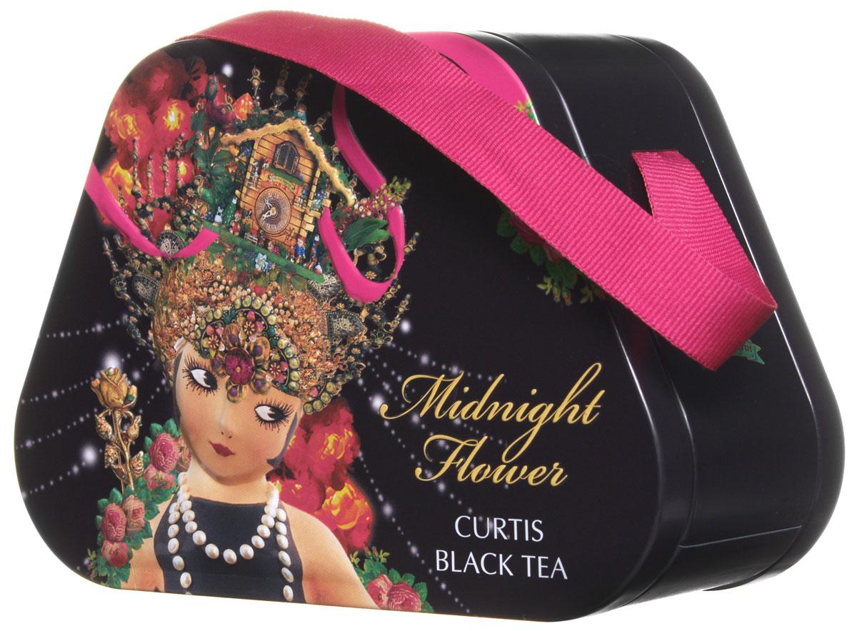 Curtis Midnight Flower черный листовой чай, 60 г516450Curtis Midnight Flower - черный крупнолистовой ароматизированный чай с лепестками розы, подсолнечника и василька. Этот уникальный напиток подарит вам незабываемый вкус и аромат.