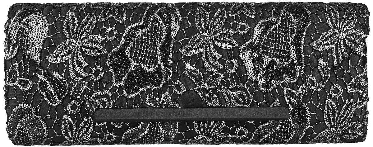 Клатч женский Eleganzza, цвет: черный, серебристый. ZZ-13288ZZ-13288Стильный женский клатч Eleganzza, выполненный из полиэстера, оформлен декоративным плетением с цветочным принтом и пайетками. Изделие имеет одно основное отделение, внутри которого имеется открытый накладной карман. Закрывается клатч на клапан с магнитной кнопкой. Модель оснащена плечевым ремнем в виде цепочки. Роскошный клатч внесет элегантные нотки в ваш образ и подчеркнет ваше отменное чувство стиля.