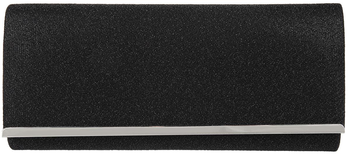 Клатч женский Eleganzza, цвет: черный. ZZ-4632ZZ-4632Стильный женский клатч Eleganzza выполнен из полиэстера и люрекса. Изделие содержит одно отделение, закрывающееся на клапан с магнитной кнопкой. Внутри имеется открытый накладной карман. Модель оснащена плечевым ремнем в виде цепочки. Роскошный клатч внесет элегантные нотки в ваш образ и подчеркнет ваше отменное чувство стиля.