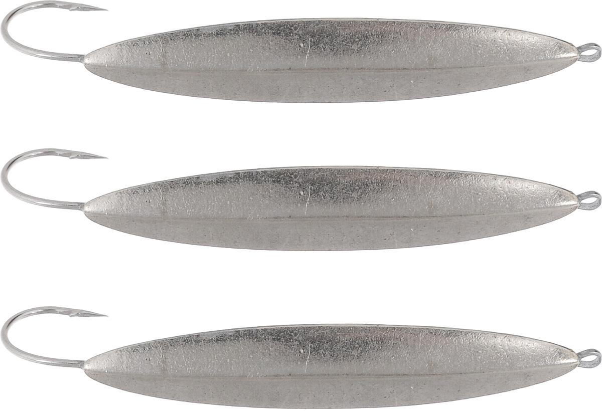 Блесна зимняя Dixxon Старорусская, цвет: никель, 9,6 г, 3 шт46221Блесна зимняя Dixxon Старорусская - это классическая вертикальная блесна. Выполнена из высококачественного металла. Блесна предназначена для отвесного блеснения рыбы. Оснащена впаянным одинарным крючком.