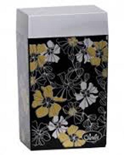 Контейнер для хранения Olala Мальва, цвет: серебристый, золотистый, черный, 1,25 л2133Прямоугольный контейнер Olala Мальва предназначен специально для хранения пищевых продуктов. Он выполнен из высококачественного пластика. Крышка легко и плотно закрывается. Контейнер устойчив к воздействию масел и жиров, легко моется. В комплекте прилагается мерная ложечка. Объем контейнера: 1,25 л. Размер контейнера: 12 см х 8 см х 20,5 см.