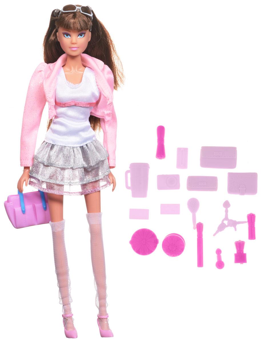 Simba Кукла Штеффи супермодель цвет розовый серый5736033_брюнетка в платьеКукла Simba Штеффи супермодель займет внимание вашей малышки и подарит ей множество счастливых мгновений. Кукла изготовлена из пластика, ее голова, ручки и ножки подвижны, что позволяет придавать ей разнообразные позы. Куколка одета в роскошный наряд в стиле китаянки - яркое мини-платье, стильный розовый жакет, белые чулки и розовые туфли. Наряд дополняют модные солнечные очки и сумочка. В набор входит множество различных аксессуаров, которые помогут сделать игру еще более увлекательней и интересней. Чудесные длинные волосы куклы так весело расчесывать и создавать из них всевозможные прически, плести косички, жгутики и хвостики. Благодаря играм с куклой, ваша малышка сможет развить фантазию и любознательность, овладеть навыками общения и научиться ответственности. Порадуйте свою принцессу таким прекрасным подарком!