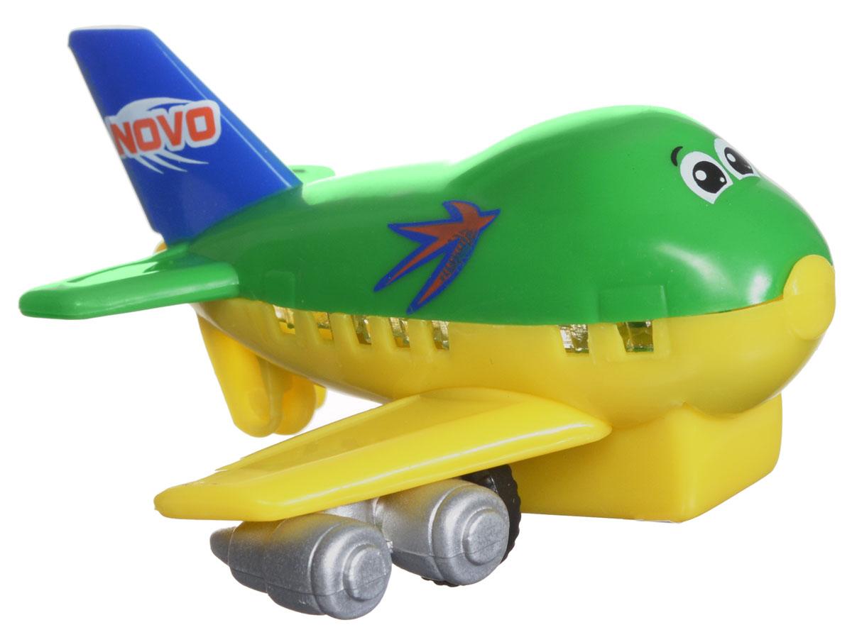Dickie Toys Веселый самолет инерционный цвет зеленый желтый3345475_зеленый, желтыйИнерционная игрушка Dickie Toys Веселый самолет порадует любого маленького непоседу! Самолетик оснащен инерционным механизмом, что придает игре особую динамику. Игрушка от немецкой компании Dickie Toys сделана из высококачественных материалов и будет радовать вашего малыша максимально долгий срок.