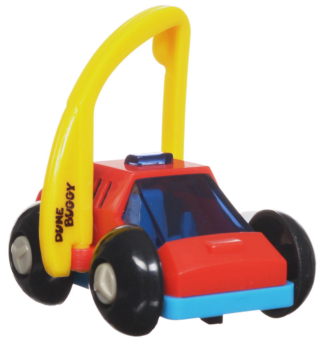 Hans Игрушка заводная Багги цвет красный голубой2K-62BDИгрушка Hans Багги привлечет внимание вашего малыша и не позволит ему скучать! Выполненная из безопасного пластика, игрушка представляет собой забавную машинку. Игрушка имеет механический завод. Для запуска, придерживая колеса, поверните заводной ключ по часовой стрелке до упора. Установите игрушку на поверхность и она поедет вперед, так же во время движения машинка поднимается на задние колеса. Заводная игрушка Hans Багги поможет ребенку в развитии воображения, мелкой моторики рук, концентрации внимания и цветового восприятия.