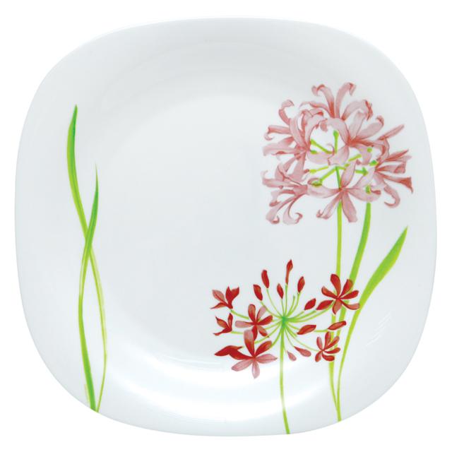 Тарелка обеденная Luminarc Jacinthe, 26,5 см х 26,5 смG0692Обеденная тарелка Luminarc Jacinthe, изготовленная из высококачественного стекла, украшена ярким цветочным рисунком. Изящный дизайн придется по вкусу и ценителям классики, и тем, кто предпочитает утонченность. Тарелка Luminarc Jacinthe идеально подойдет для сервировки стола и станет отличным подарком к любому празднику. Размер (по верхнему краю): 26,5 см х 26,5 см.