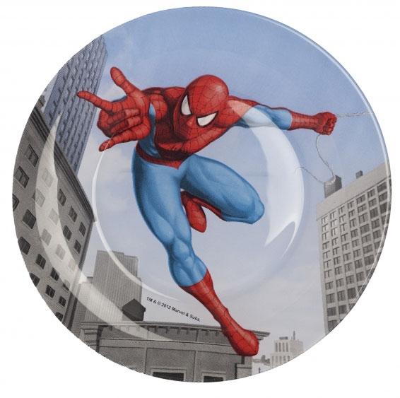 Тарелка десертная Luminarc Spiderman Street Fights, диаметр 20 смH4355Десертная тарелка Luminarc Spiderman Street Fights, изготовленная из ударопрочного стекла, декорирована изображением героя мультфильма Человек-паук. Такая тарелка прекрасно подходит как для торжественных случаев, так и для повседневного использования. Тарелка Luminarc Spiderman Street Fights идеальна для подачи десертов, пирожных, тортов и многого другого. Она прекрасно оформит стол и станет отличным дополнением к вашей коллекции кухонной посуды. Диаметр тарелки (по верхнему краю): 20 см. Высота стенки: 1,7 см.