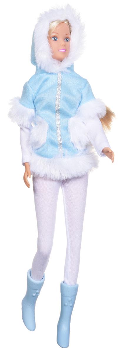 Simba Кукла Штеффи в зимней одежде цвет голубой5733148_голубойКукла Simba Штеффи надолго займет внимание вашей малышки и подарит ей множество счастливых мгновений. Кукла изготовлена из пластика, ее голова, ручки и ножки подвижны, что позволяет придавать ей разнообразные позы. Красавица Штеффи одета специально для зимней прогулки. На ней теплая меховая курточка с капюшоном и длинные брюки. Наряд дополняют стильные голубые сапожки. Чудесные длинные волосы куклы так весело расчесывать и создавать из них всевозможные прически, плести косички, жгутики и хвостики. Благодаря играм с куклой, ваша малышка сможет развить фантазию и любознательность, овладеть навыками общения и научиться ответственности. Порадуйте свою принцессу таким прекрасным подарком!