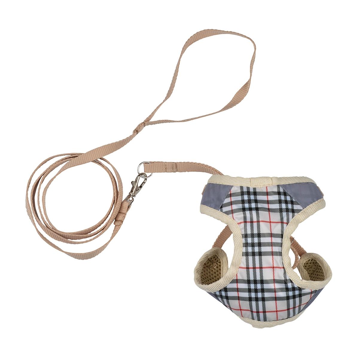 Dogmoda Комплект Ватсон (шлейка и поводок) размер 4DM-130064-4Комплект для прогулки Ватсон, состоящий из шлейки и поводка. Выполнен из практичной моющейся ткани.