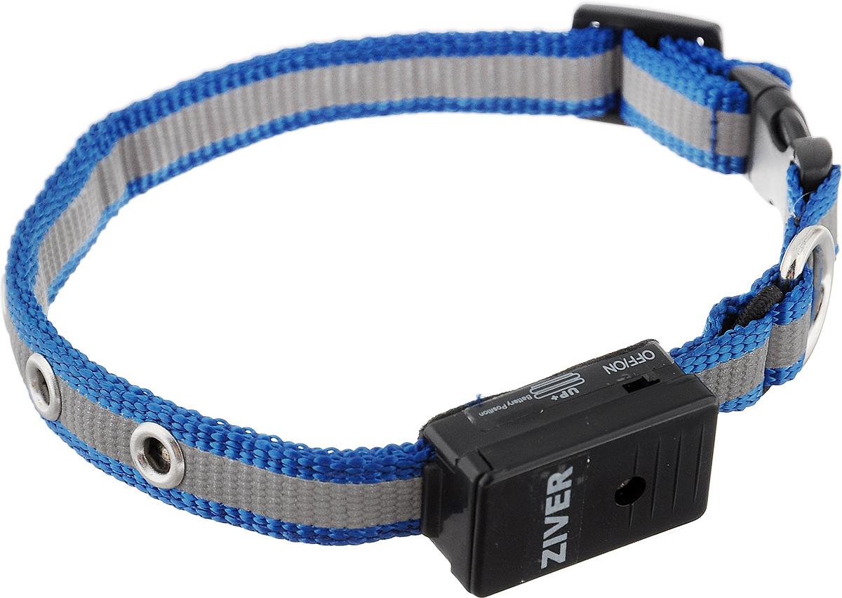 Ошейник Ziver Sensor для кошек и собак мелких пород, светящийся, цвет: голубой, серый40.ZV.005Светящийся ошейник Ziver Sensor - это очередная новинка для мелких животных от компании ZIVER. Ошейник идеален для кошек и собак мелких пород, он поможет видеть их при прогулке в темное время суток, и теперь вы не потеряете их из виду. Ziver Sensor обезопасит ваше животное от попадания под автомобиль, так как водитель сможет заметить приближающуюся собаку на расстоянии до 800 метров. Мигает красными огнями. Ошейник работает в режиме автоматического включения при наступлении темноты, для включения этой функции поставьте выключатель в положение ON, для выключения - в положение OFF. Особенности ошейника: - автоматическое включение при наступлении темноты; - кнопка выключения светосенсора; - в темное время суток виден на расстоянии до 800 метров; - время работы батарейки - 40 часов; - крепкий и надежный карабин; - регулируемый размер; - мягкая подкладка комфортна для животного; - работает при...