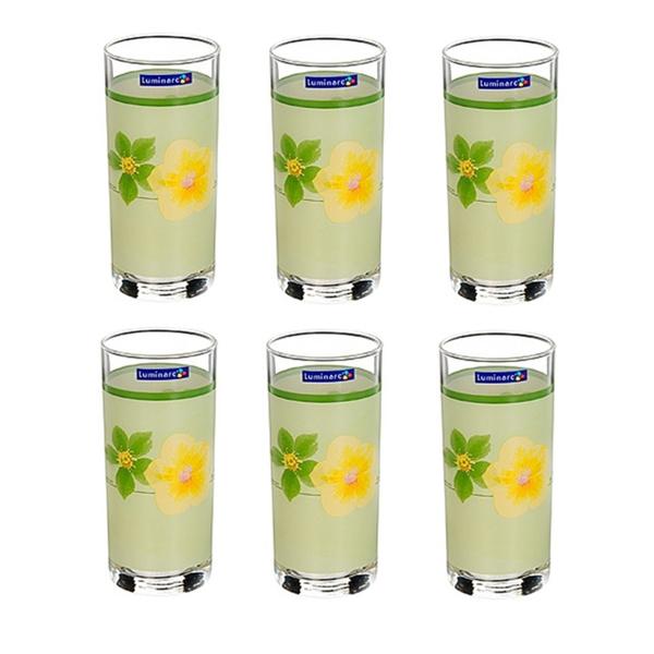 Набор стаканов Luminarc Poeme Anis, 270 мл, 6 штD2161Набор Luminarc Poeme Anis состоит из шести стаканов, выполненных из высококачественного стекла и оформленных ярким цветочным рисунком. Изделия предназначены для подачи воды и других безалкогольных напитков. Они отличаются особой легкостью и прочностью, излучают приятный блеск и издают мелодичный хрустальный звон. Стаканы станут идеальным украшением праздничного стола и отличным подарком к любому празднику. Можно мыть в посудомоечной машине. Диаметр стакана (по верхнему краю): 6 см. Высота: 13,5 см.