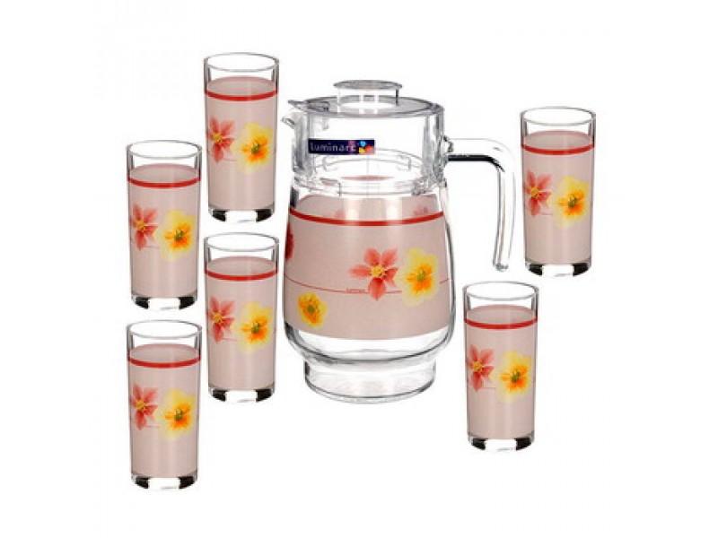Набор питьевой Luminarc Poeme Rose, 7 предметов. D2337D2337Питьевой набор Luminarc Poeme Rose состоит из 6 стаканов и кувшина. Изделия выполнены из высококачественного прочного стекла и декорированы красивым цветочным рисунком. Набор прекрасно подходит для сока, воды, лимонада и других напитков. Изделия устойчивы к повреждениям и истиранию, в процессе эксплуатации не впитывают запахи и сохраняют первоначальные краски. Посуда Luminarc обладает не только высокими техническими характеристиками, но и красивым эстетичным дизайном. Luminarc - это современная, красивая, практичная столовая посуда. Можно мыть в посудомоечной машине. Объем кувшина: 1,6 л. Диаметр кувшина (по верхнему краю): 10 см. Высота кувшина: 20,5 см. Объем стакана: 270 мл. Диаметр стакана: 6 см. Высота стакана: 13,5 см.