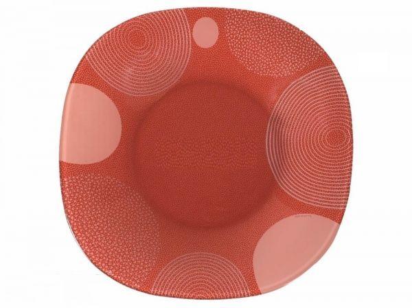 Тарелка Luminarc Constellation, 25 х 25 смG7800Плоская тарелка Luminarc Constellation придется по душе любителям ярких расцветок и современного стиля. Тарелка предназначена для подачи вторых блюд, а также может использоваться в качестве подстановочной посуды. Необычный дизайн и красочная расцветка привлекут внимание к поданному блюду, а также позволят тарелке стать сочной изюминкой сервировки. Тарелка, изготовленная из качественного ударопрочного стекла, надолго сохранит первоначальный внешний вид. Ее можно мыть в посудомоечной машине и использовать в микроволновой печи.