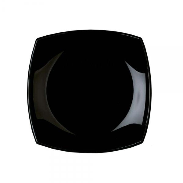 Тарелка десертная Luminarc Quadrato, цвет: черный, 19 х 19 смH3670Квадратная десертная тарелка черного цвета из серии Luminarc Quadrato выполнена из ударопрочного, закаленного стекла, устойчива к резким перепадам температуры. Пригодна для использования в посудомоечной машине и СВЧ. Тарелка используется для подачи различных десертов, печенья, кусочков торта, конфет, фруктов. Благодаря оригинальному дизайнерскому исполнению, будет смотреться на вашем столе очень солидно.