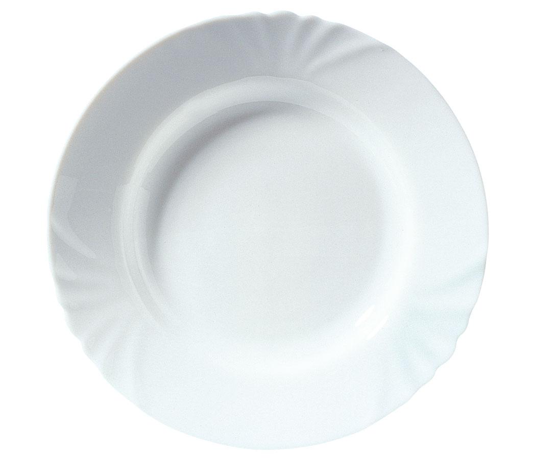 Тарелка глубокая Luminarc Cadix, диаметр 25 смH4130Глубокая тарелка Cadix надежной марки Luminarc - интересное решение для кухонь и столовых в классическом и современном дизайне. Тарелка изготовлена из ударопрочного стекла, которое не впитывает запахи и обладает антибактериальными свойствами. Ее можно мыть в посудомоечной машине и использовать в микроволновой печи.