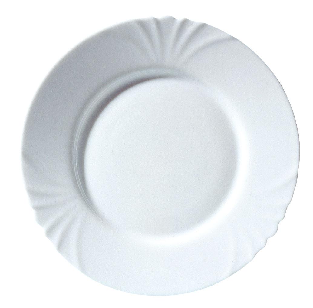 Тарелка Luminarc Cadix, диаметр 25 смH4132Тарелка Luminarc Cadix, диаметром 25 см, изготовлена из ударопрочного, закаленного стекла, способного выдерживать значительные перепады температуры. Благодаря простому и универсальному дизайну, тарелка может использоваться как в сфере гостинично-ресторанного бизнеса, так и дома. Не нуждается в особо бережном уходе и подходит для использования в посудомоечной машине и СВЧ.