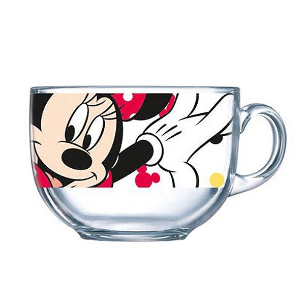 Бульонница Luminarc Oh, Minnie, 400 млH6443Кружка-джамбо марки Luminarc, украшенная изображением очаровательной подружки знаменитого Микки Мауса, придется по душе любой девочке. Из яркой кружки с рисунком веселой мышки можно не только пить чай или сок, но есть мюсли, каши и салаты – если использовать ее как пиалу. Легкая кружка-джамбо с удобной ручкой станет любимой посудой малышки. Изготовленная из качественного ударопрочного антибактериального стекла, не содержащего токсинов, кружка прочна и безопасна для ребенка. Ее можно мыть в посудомоечной машине и использовать в микроволновой печи. Объем кружки: 400 мл.