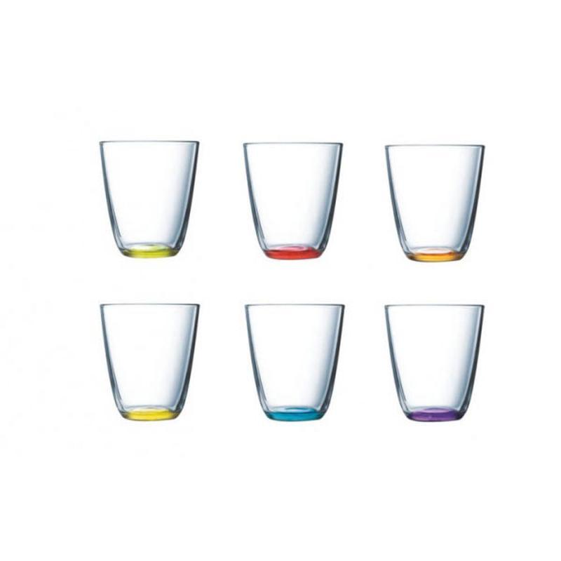 Набор стаканов 6 шт, 31СL FH CRAZY COLORS ASSORTED H8303H8303