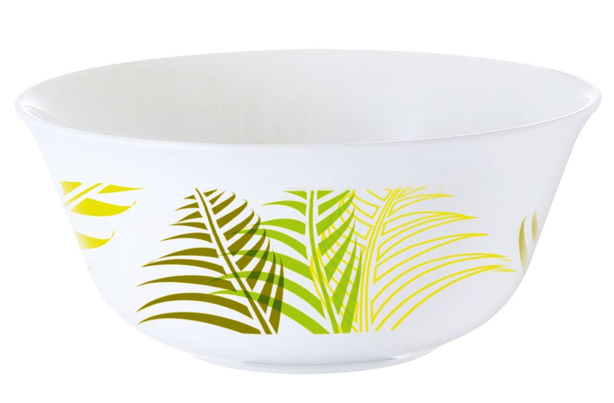 Салатник Luminarc Green Forest, диаметр 12 смH8451Салатник Luminarc Green Forest отлично подойдет для подачи салатов из свежих овощей и фруктов, насыщая каждого участника трапезы полезными витаминами. Простой и универсальный салатник на каждый день изготовлен из качественного стекла, безопасен при контакте с пищевыми продуктами, не выделяет вредных веществ. Можно мыть в посудомоечной машине и использовать в СВЧ. Диаметр салатника: 12 см.