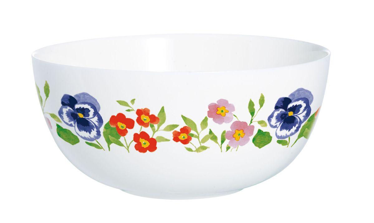 Салатник Luminarc Magda, диаметр 12,3 смH8581Салатник Luminarc Magda, изготовленный из высококачественного стекла, прекрасно впишется в интерьер вашей кухни и станет достойным дополнением к кухонному инвентарю. Салатник оформлен ярким рисунком. Такой салатник не только украсит ваш кухонный стол и подчеркнет прекрасный вкус хозяйки, но и станет отличным подарком. Диаметр по верхнему краю: 12,3 см. Высота салатника: 5,5 см.