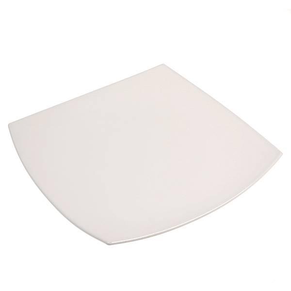 Тарелка Luminarc Quadrato, цвет: белый, 27 х 27 смJ0592Квадратная тарелка Luminarc Quadrato изготовлена из ударопрочного, закаленного стекла, способного выдерживать значительные перепады температуры. Она подойдет для сервировки вторых блюд, а также ее можно использовать, как блюдо для подачи закусок. На белоснежной блестящей поверхности ваши любимые блюда будут смотреться по-особенному аппетитно и привлекательно. Тарелка не нуждается в особо бережном уходе, её можно мыть в посудомоечной машине и использовать в СВЧ. Размер тарелки: 25 х 25 см.