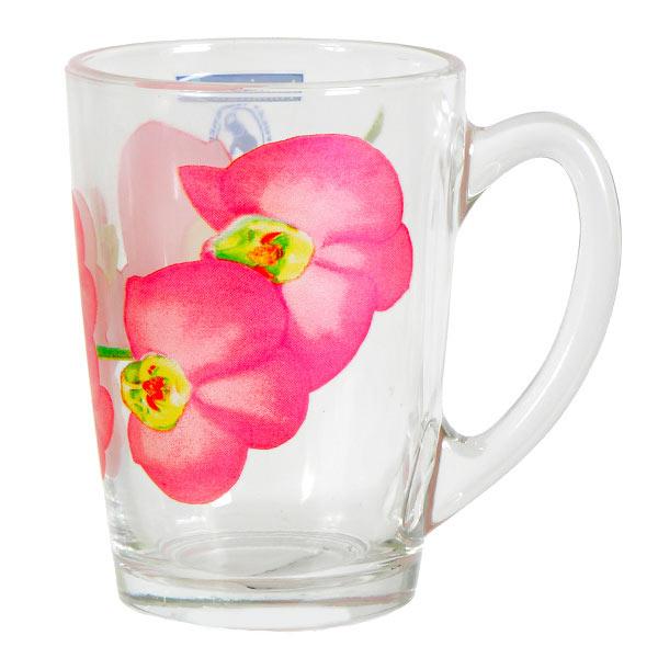 Кружка Luminarc Erine, 320 млJ7916Кружка марки Luminarc Erine придется по душе любителям практичной посуды и цветочных принтов. В прозрачной кружке, декорированной красочным рисунком, любимый напиток обретет новый, насыщенный вкус и наполнит утро яркими красками. Кружка из ударопрочного стекла надолго сохранит первоначальный внешний вид, она станет приятным приобретением для дома или офиса. Кружку можно мыть в посудомоечной машине и использовать в СВЧ-печи. Объём кружки: 320 мл. Высота кружки: 11 см.