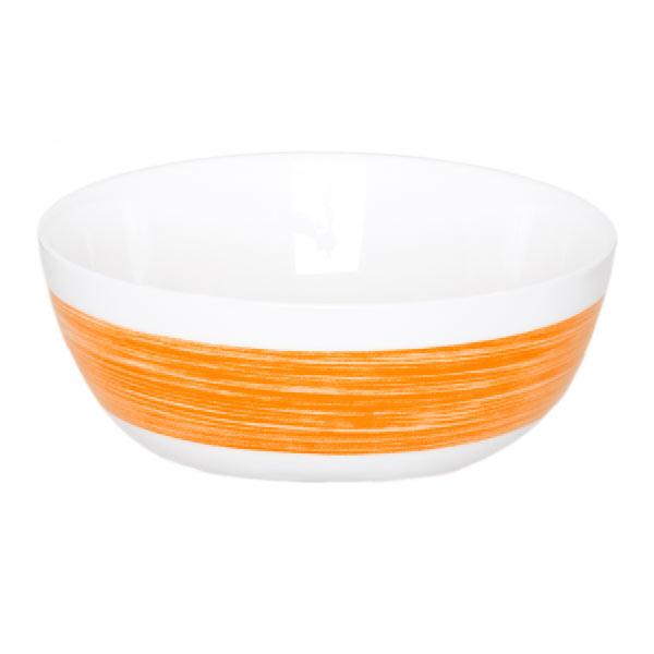 Салатник Luminarc Color Days, цвет: белый, оранжевый, диаметр 12,5 смL1515Салатник Luminarc Color Days, диаметром 12,5 см, идеален для сервировки легких летних салатов. Материал: ударопрочное стекло, устойчивое к резким перепадам температуры. Можно мыть в посудомоечной машине и использовать в СВЧ.