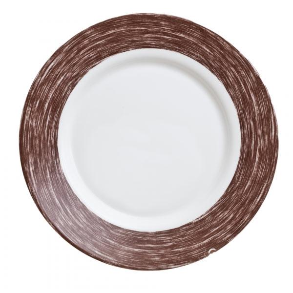 Тарелка Luminarc Color Days, цвет: белый, коричневый, диаметр 24 смL1531Тарелка Luminarc Color Days изготовлена из ударопрочного стекла, прекрасно подходит как для торжественных случаев, так и для повседневного использования. Идеальна для подачи десертов, пирожных, тортов и многого другого. Она прекрасно оформит стол и станет отличным дополнением к вашей коллекции кухонной посуды. Диаметр тарелки (по верхнему краю): 24 см. Высота тарелки: 3 см.