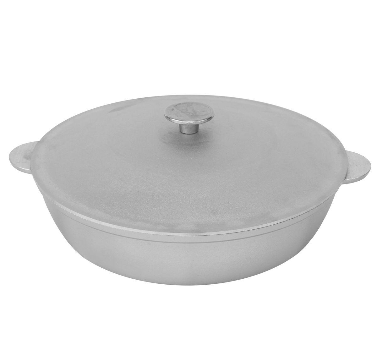 Сковорода, диаметр 36 см, с двумя алюминиевыми ручками и крышкой БИОЛА363