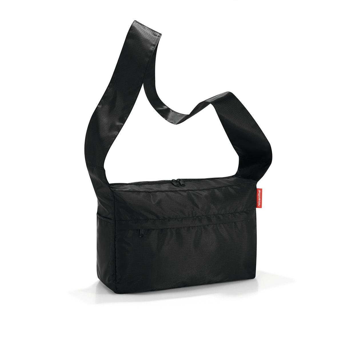 Сумка женская Reisenthel, складная, цвет: черный. AL7003AL7003Стильная женская сумка Reisenthel изготовлена из полиэстера. Сумка имеет одно отделение, которое закрывается на застежку-молнию с двумя бегунками. Внутри имеется нашивной карман на застежке-молнии, в который сумка складывается и приобретает компактный вид. Снаружи, на передней стенке расположен накладной карман на застежке-молнии. По бокам расположены открытые накладные карманы. Изделие оснащено удобным плечевым ремнем. Мультифункциональная сумка Reisenthel эффектно дополнит ваш образ и станет незаменимой в повседневной жизни.