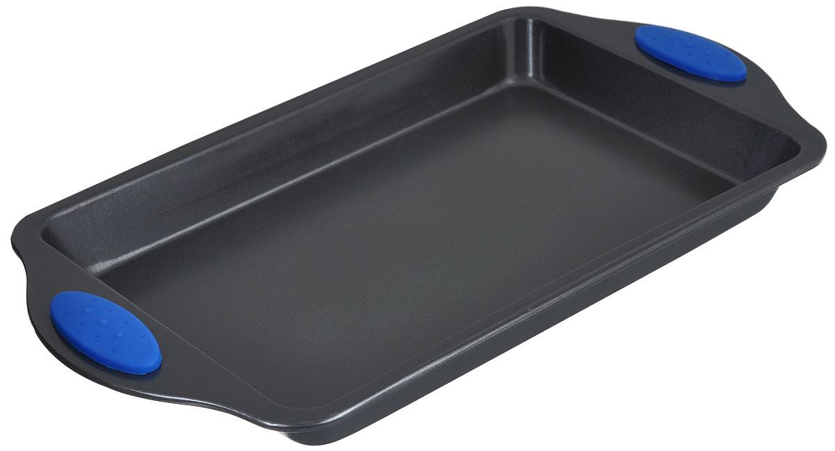 Форма для запекания Mayer & Boch Unico, прямоугольная, с антипригарным покрытием, 28 см х 18 см4100Прямоугольная форма Mayer & Boch изготовлена из высококачественной углеродистой стали. Она имеет антипригарное покрытие, препятствующее пригоранию и обеспечивающее легкую очистку. Форму можно использовать при температуре 200°С - 260°С. Изделие оснащено двумя удобными ручками с силиконовыми вставками, которые не нагреваются. С такой формой для запекания вы всегда сможете порадовать своих близких оригинальным блюдом. Подходит для использования в духовом шкафу. Размер формы (с учетом ручек): 35,5 см х 20,2 см. Размер формы (без учета ручек): 28 см х 18 см. Высота стенок: 3,2 см.