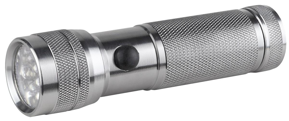 Фонарь ручной ЭРА SD14, цвет: металлSD14Светодиодный алюминиевый фонарь: 14 белых светодиодов ремешок для запястье 3xAAA (в комплект не входят) 45 лм