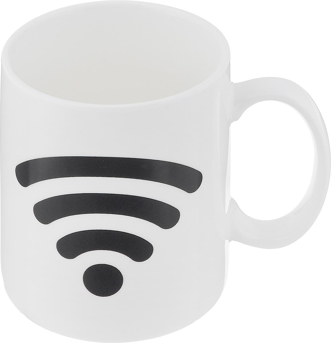 Кружка-хамелеон Эврика Включи Wi-Fi, 300 мл96304Кружка-хамелеон Эврика Включи WiFi выполнена из высококачественной керамики. По мере наполнения, шкала зарядки повышается. В холодном состоянии на кружке нарисована шкала Wi-Fi. Если в нее налить горячий напиток, то рисунок меняет цвет. Такой подарок станет не только приятным, но и практичным сувениром: кружка станет незаменимым атрибутом чаепития, а оригинальный дизайн вызовет улыбку. Высота кружки: 9,5 см. Диаметр (без учета ручки): 8 см.