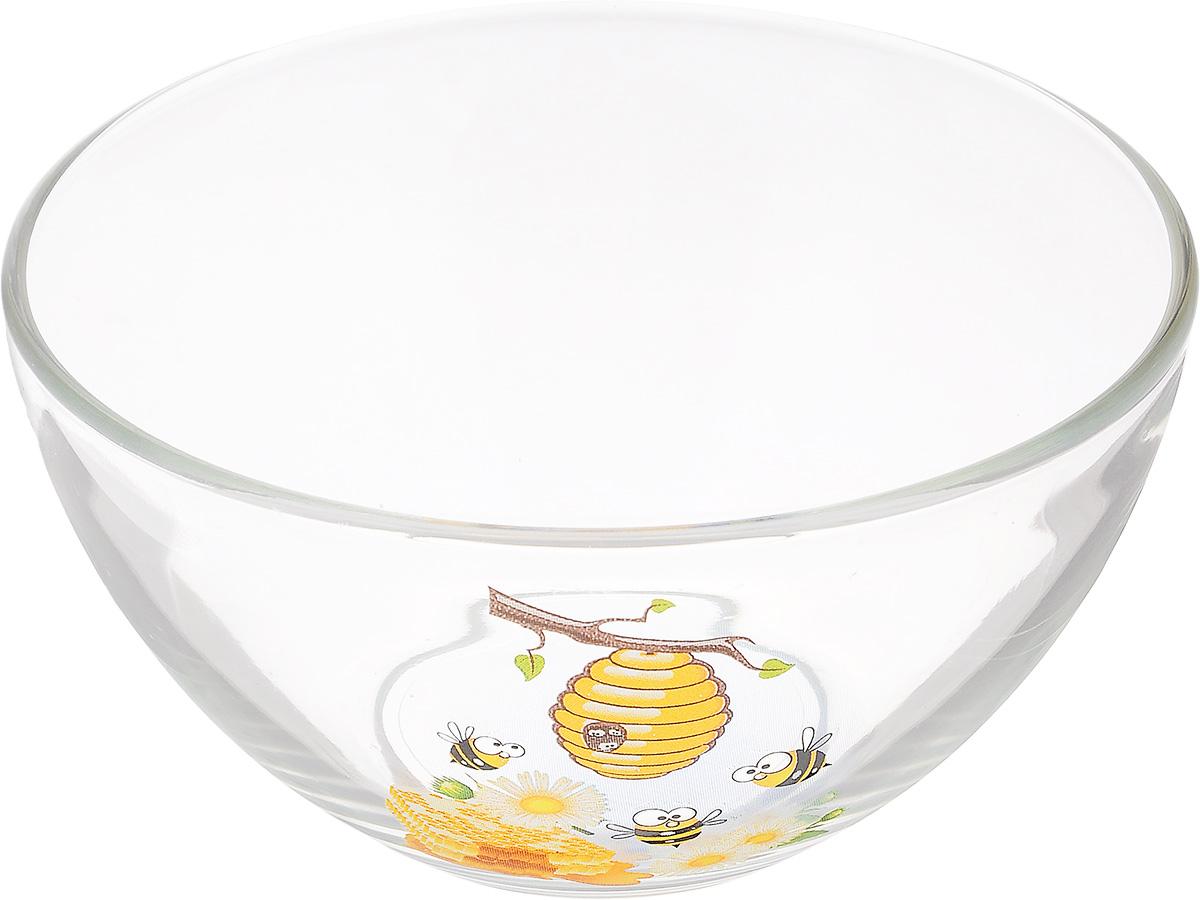 Салатник OSZ Медовая, диаметр 15 см09С1425 МЕДОВАЯСалатник OSZ Медовая изготовлен из бесцветного стекла и украшен ярким рисунком. Идеально подходит для сервировки стола. Салатник не только украсит ваш кухонный стол и подчеркнет прекрасный вкус хозяйки, но и станет отличным подарком. Диаметр салатника (по верхнему краю): 15 см. Диаметр основания: 7 см. Высота салатника: 7,5 см.
