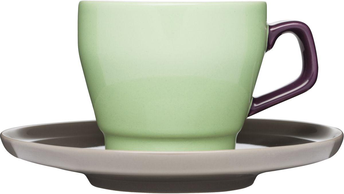 Кружка с блюдцем. 50164465016446Посуда серии POP радует глаз цветом и формой. Отлично подойдет как для дома, так и для офиса.Оригинальный скандинавский дизайн и подарочная упаковка, сделают продукцию SAGAFORM желанным подарком!