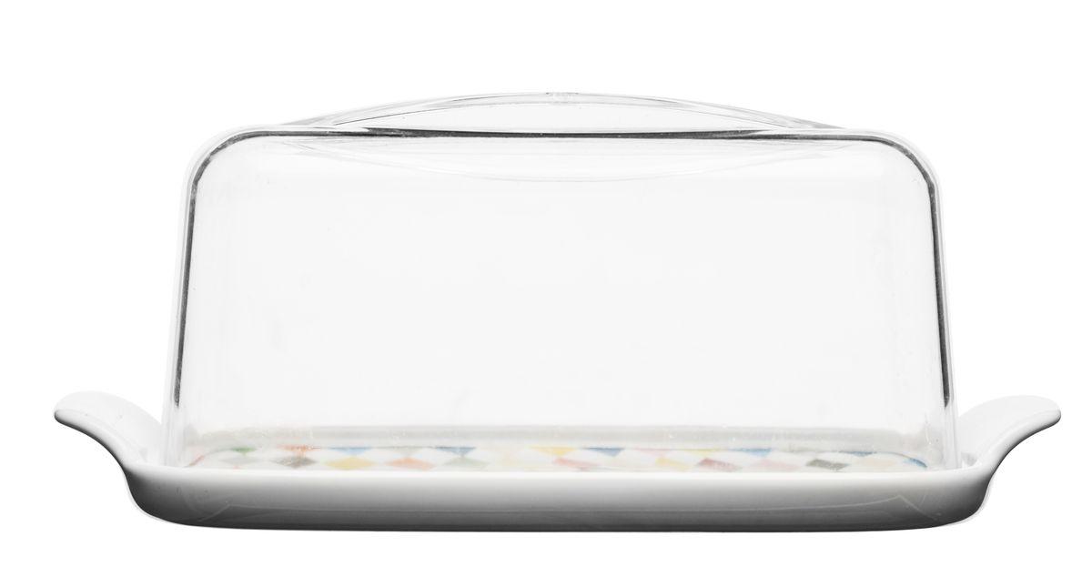 Масленка. 50171745017174Масленка Sagaform создана для того, чтобы ваши продукты были идеальны. Ничто так не сохранит свежесть сливочного масла, как разработка Sagaform. Положите продукт внутрь, а затем в холодильник – масло не испортится! Эргономичная форма позволит сэкономить место в холодильнике. Шикарный дизайн подчеркнет ваш изысканный вкус и порадует гостей. Удобные ручки на чаше позволят использовать изделие с максимальным комфортом. Масленка выполнена в лучших традициях качества!