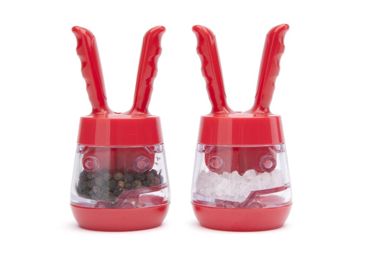 Mini Pod - Набор мельниц для соли и перца (красные). DM2081020SETDM2081020SETОригинальные мини-мельницы для специй в современном британском стиле с ручками для помолки. Работает в результате нажатия на ручки. Порадуйте себя и своих близких изысканным Английским дизайном.