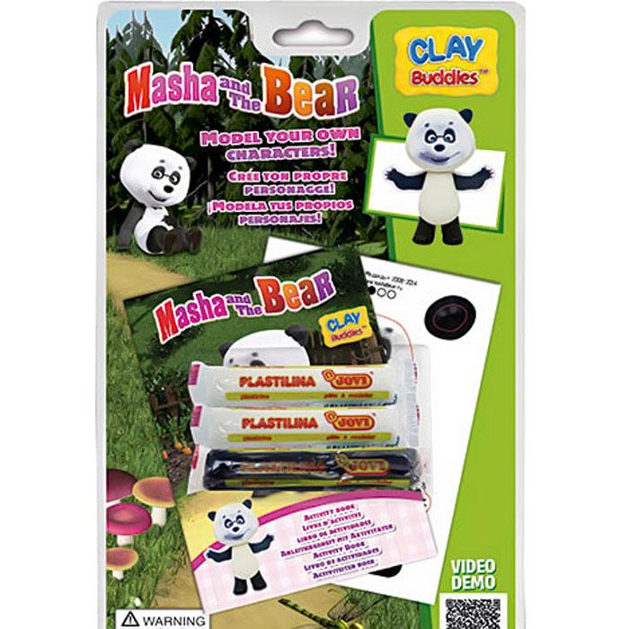 Giromax Набор для лепки Маша и Медведь ПандаG 306420_пандаНабор для лепки Giromax Маша и Медведь. Панда позволит вашему ребенку создать поделку в виде Панды - персонажа популярного мультсериала Маша и Медведь. Набор включает три бруска пластилина (один черного цвета, два других - белого), картонный лист с красочными элементами для оформления поделки, липучку для наклеивания элементов, а также брошюру с заданиями и инструкцией на русском языке. Работа с пластилином для лепки подарит вашему ребенку положительные эмоции, а также поможет развить мелкую моторику рук, внимательность и усидчивость.