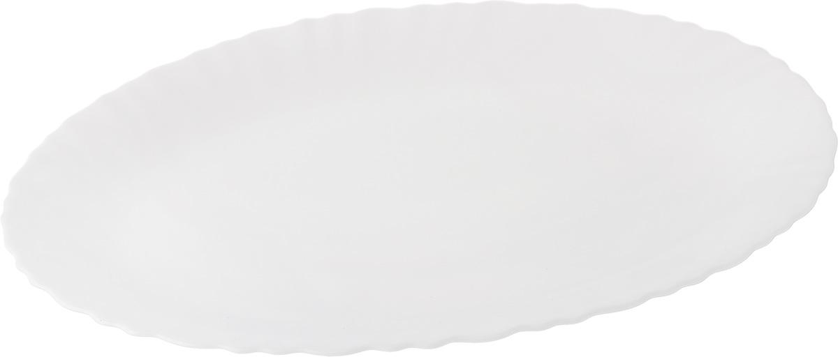Блюдо Luminarc Feston. 33 х 25 смE8862Блюдо Luminarc Feston изготовлено из ударопрочного стекла. Изделие выполнено овальной формы с рельефным рисунком. Блюдо Luminarc доставит истинное удовольствие ценителям прекрасного. Яркий дизайн, несомненно, придется вам по вкусу. Можно использовать в микроволновой печи и мыть в посудомоечной машине. Размер блюда (по верхнему краю): 33 см х 25 см. Высота блюда: 2 см.