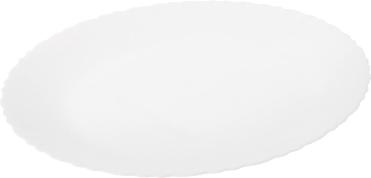 Блюдо Luminarc Feston, диаметр 30 смE9654Блюдо Luminarc Feston изготовлено из ударопрочного стекла. Изделие выполнено овальной формы. Блюдо Luminarc доставит истинное удовольствие ценителям прекрасного. Яркий дизайн, несомненно, придется вам по вкусу. Диаметр блюда (по верхнему краю): 30 см. Высота блюда: 2,5 см.