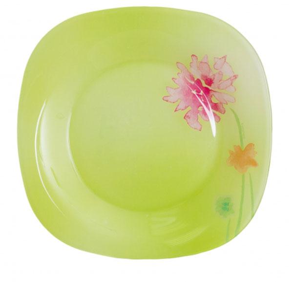 Тарелка десертная Luminarc Angel Green, 18 х 18 смJ1921Десертная тарелка Luminarc Angel Green, изготовленная из ударопрочного стекла, декорирована изображением цветов. Такая тарелка прекрасно подходит как для торжественных случаев, так и для повседневного использования. Идеальна для подачи десертов, пирожных, тортов и многого другого. Она прекрасно оформит стол и станет отличным дополнением к вашей коллекции кухонной посуды. Размер тарелки (по верхнему краю): 18 см х 18 см.